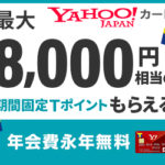 最もお勧めのクレジットカードは楽天カードとヤフージャパンカード。