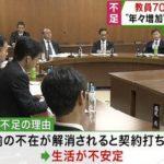 大阪市小学校の教員、64人足りない。病欠など教諭の不足を補う講師も不足。(関西テレビ)