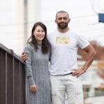 ラグビー日本代表の主将リーチマイケルさん夫婦の経営するカフェが府中駅にあります。