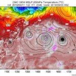 関東南に955hpa級の4つの大型台風の卵が出現。アメリカCIAは前回の台風15号で横浜を潰し損なったので今度こそ仕留めにかかる。