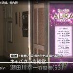大森駅のキャバクラ「クラブアウラ」が稲川会碑文谷一家にみかじめ料を渡したとして逮捕!(TBS)