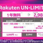楽天モバイルが大手キャリアの半額の月額データ、SNS、動画、電話使い放題2980円で発売。